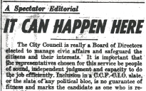 Spectator Editorial, Tuesday, Nov 30, 1943, pp 7 header
